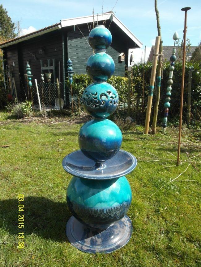 Atelier einklang t pferei krummh rn gartenbrunnen - Gartenbrunnen keramik ...